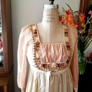 Vintage GUNNE SAX Jessica Boho Gypsy Sun Dress S